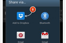 Sending Audios via Dropbox